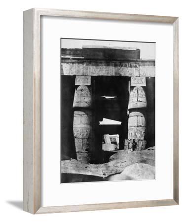 Temple Ruins, Egypt, 1852-Maxime Du Camp-Framed Giclee Print