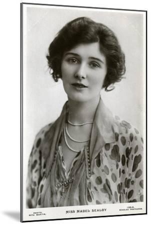 Mabel Sealby, British Actress, C1900s-C1910S-Rita Martin-Mounted Giclee Print