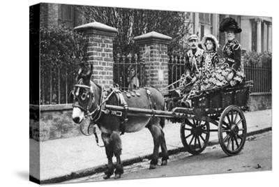 Pearly Family in their Donkey-Drawn Moke, London, 1926-1927-McLeish-Stretched Canvas Print