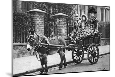 Pearly Family in their Donkey-Drawn Moke, London, 1926-1927-McLeish-Mounted Giclee Print