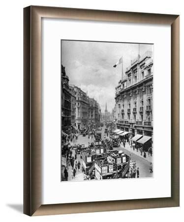 Regent Street, London, 1926-1927-McLeish-Framed Giclee Print
