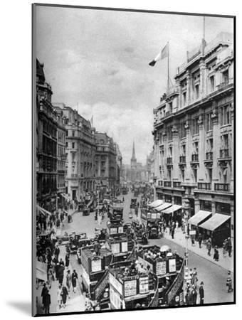 Regent Street, London, 1926-1927-McLeish-Mounted Giclee Print