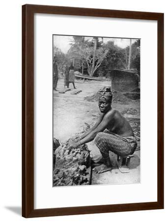 A Gold Coast Potter and Her Clay, Ghana, West Africa, 1922-PA McCann-Framed Giclee Print