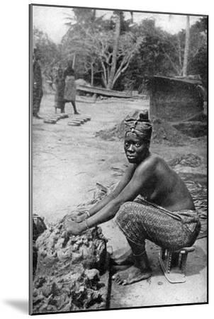 A Gold Coast Potter and Her Clay, Ghana, West Africa, 1922-PA McCann-Mounted Giclee Print