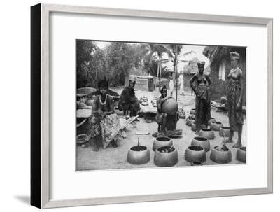 Fanti Women Making Earthenware, Elmina, Ghana, 1922-PA McCann-Framed Giclee Print