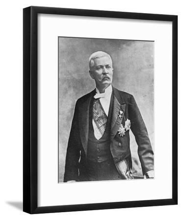 Henry Morton Stanley, Welsh Journalist and Explorer, Late 19th or Early 20th Century--Framed Giclee Print