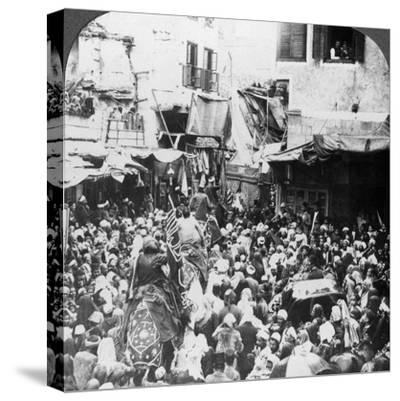The Holy Carpet Parade with the Mahmal, Cairo, Egypt, 1905-Underwood & Underwood-Stretched Canvas Print
