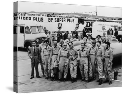 Donald Campbell and the Bluebird Team, Goodwood, 22nd July 1960--Stretched Canvas Print