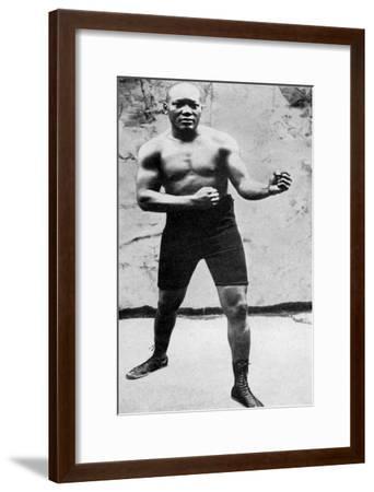 Jack Johnson, the First Black World Heavyweight Boxing Champion, 1908--Framed Giclee Print