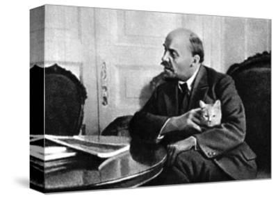 Russian Bolshevik Leader Vladimir Ilich Lenin in His Kremlin Appartment, Moscow, Russia, 1920--Stretched Canvas Print