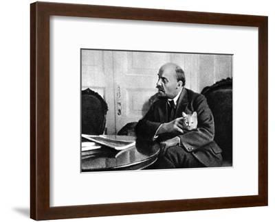 Russian Bolshevik Leader Vladimir Ilich Lenin in His Kremlin Appartment, Moscow, Russia, 1920--Framed Giclee Print