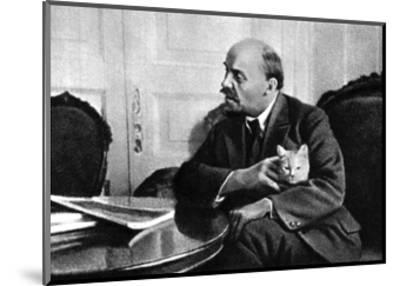 Russian Bolshevik Leader Vladimir Ilich Lenin in His Kremlin Appartment, Moscow, Russia, 1920--Mounted Giclee Print