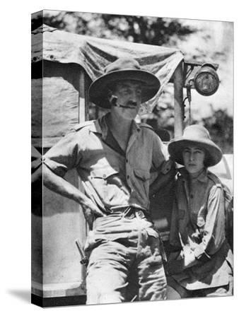 Chaplin Court Treatt and Stella Court Treatt, British Motoring Pioneers, C1924-C1926-Thomas A Glover-Stretched Canvas Print