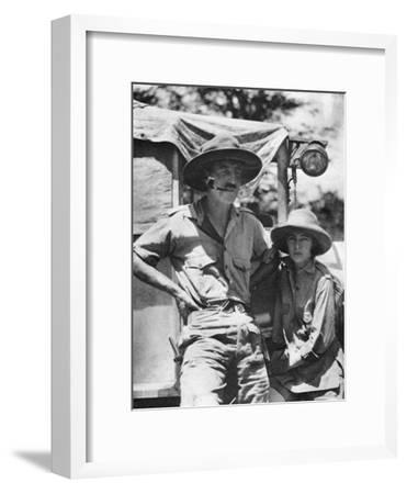 Chaplin Court Treatt and Stella Court Treatt, British Motoring Pioneers, C1924-C1926-Thomas A Glover-Framed Giclee Print