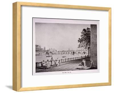 Westminster Bridge, London, C1925-Thomas Malton II-Framed Giclee Print
