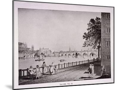 Westminster Bridge, London, C1925-Thomas Malton II-Mounted Giclee Print