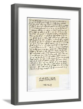 Letter from Sir Thomas More to Henry VIII, 5th March 1534-Thomas More-Framed Giclee Print