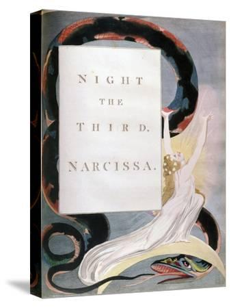 Night the Third Narcissa, Title-Page from the 'Nights' of Edward Young's Night Thoughts, C1797-William Blake-Stretched Canvas Print
