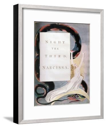 Night the Third Narcissa, Title-Page from the 'Nights' of Edward Young's Night Thoughts, C1797-William Blake-Framed Giclee Print
