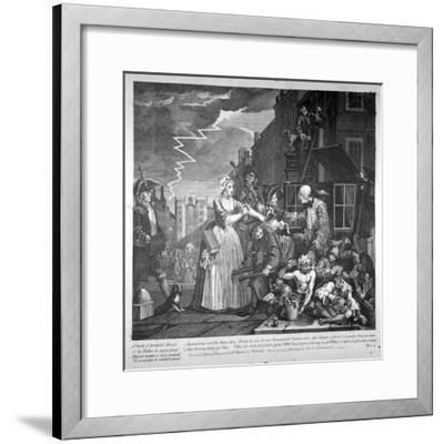Plate IV of a Rake's Progress, 1735-William Hogarth-Framed Giclee Print