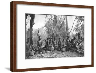Native Women with Baskets of Hippo Meat, Karoo, South Africa, 1924-Thomas A Glover-Framed Giclee Print