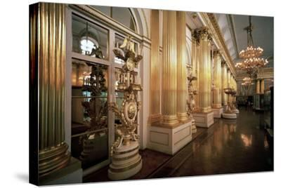 The Heraldic Hall in the Winter Palace, 1839-Vasily Stasov-Stretched Canvas Print