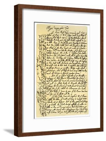 Letter from William Laud, Archbishop of Canterbury to Edward Conway, 14th August 1640-William Laud-Framed Giclee Print