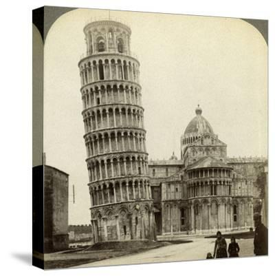 Cathedral and Leaning Tower of Pisa, Italy-Underwood & Underwood-Stretched Canvas Print