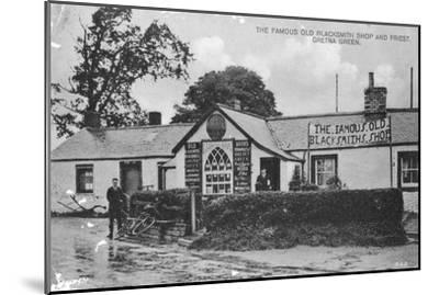 The Famous Old Blacksmith's Shop, Gretna Green, Dumfriesshire, Scotland, 20th Century--Mounted Giclee Print