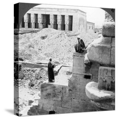 The Beautiful Temple of Hathor at Denderah, Egypt, 1905-Underwood & Underwood-Stretched Canvas Print