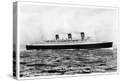 Ocean Liner RMS Queen Mary, 20th Century--Stretched Canvas Print