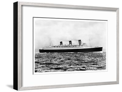Ocean Liner RMS Queen Mary, 20th Century--Framed Giclee Print