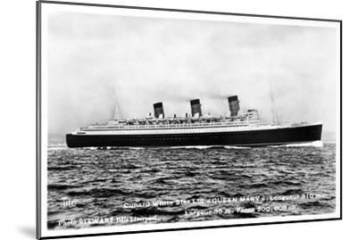 Ocean Liner RMS Queen Mary, 20th Century--Mounted Giclee Print