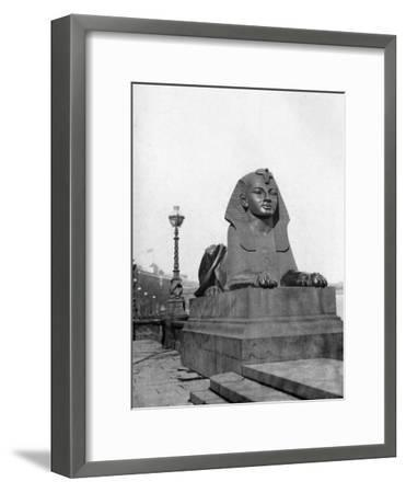 One of the Sphinxes, Victoria Embankment, London, 1924-1926--Framed Giclee Print