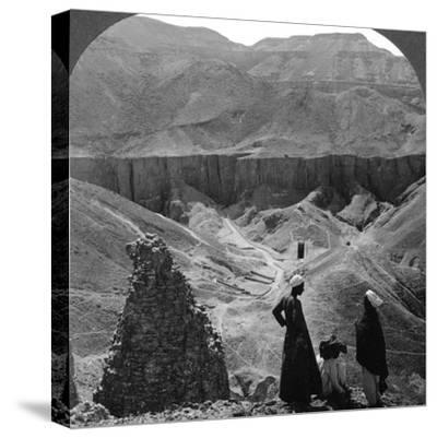 Valley of the Kings' Tombs at Thebes, Egypt, 1905-Underwood & Underwood-Stretched Canvas Print