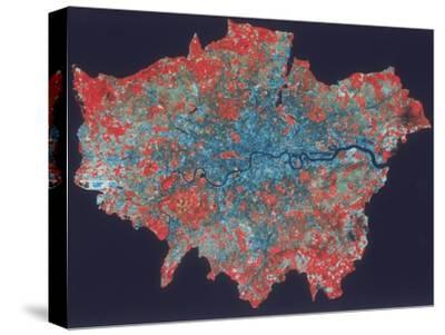 Composite Landsat False Colour Image of Greater London, 1979--Stretched Canvas Print