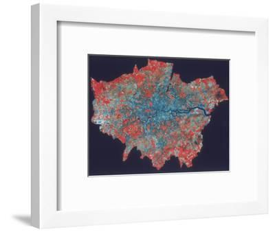 Composite Landsat False Colour Image of Greater London, 1979--Framed Giclee Print