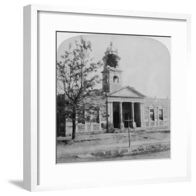 The Town Hall, Struck by a Boer Shell During the Siege, Ladysmith, South Africa, 1901-Underwood & Underwood-Framed Giclee Print