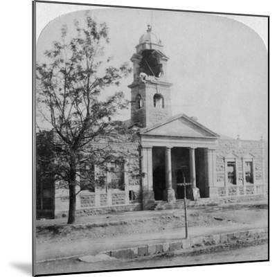 The Town Hall, Struck by a Boer Shell During the Siege, Ladysmith, South Africa, 1901-Underwood & Underwood-Mounted Giclee Print
