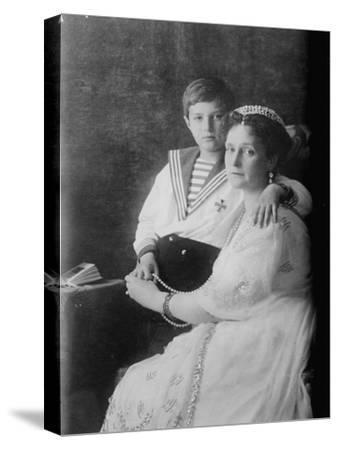 Tsarevich Alexei of Russia and Tsarina Alexandra, C1910--Stretched Canvas Print