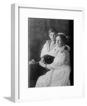 Tsarevich Alexei of Russia and Tsarina Alexandra, C1910--Framed Giclee Print