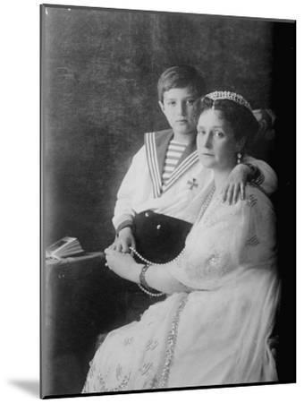 Tsarevich Alexei of Russia and Tsarina Alexandra, C1910--Mounted Giclee Print