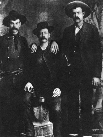 A Disputed Photograph of the Train Robber and Outlaw Sam Bass, C1877-1878--Framed Giclee Print