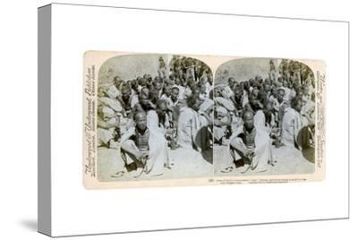 Boxer Prisoners Captured and Brought in by the Us 6th Cavalry, Tientsin, China, 1901-Underwood & Underwood-Stretched Canvas Print