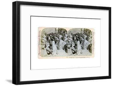 Boxer Prisoners Captured and Brought in by the Us 6th Cavalry, Tientsin, China, 1901-Underwood & Underwood-Framed Giclee Print