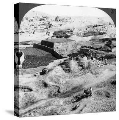 Brickmaking, Egypt, 1905-Underwood & Underwood-Stretched Canvas Print