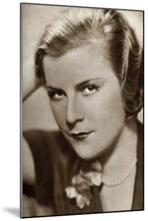 Renate Müller, German Actress, 1933--Mounted Giclee Print