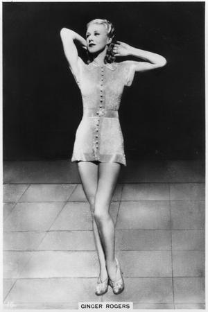 Ginger Rogers, American Actress, Dancer and Singer, C1938--Stretched Canvas Print