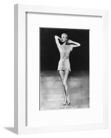 Ginger Rogers, American Actress, Dancer and Singer, C1938--Framed Giclee Print