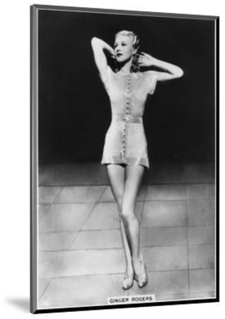 Ginger Rogers, American Actress, Dancer and Singer, C1938--Mounted Giclee Print
